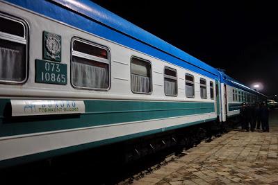 夜行列車で行くブハラ・タシケントの旅(Train No661)