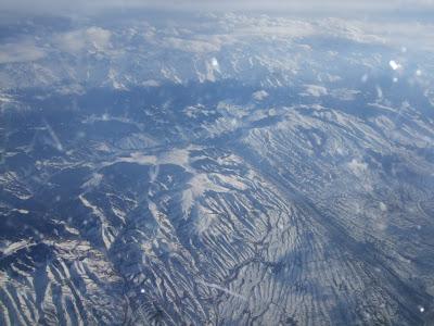 世界の機窓から「トルコ航空直行便より中央アジアの光景」