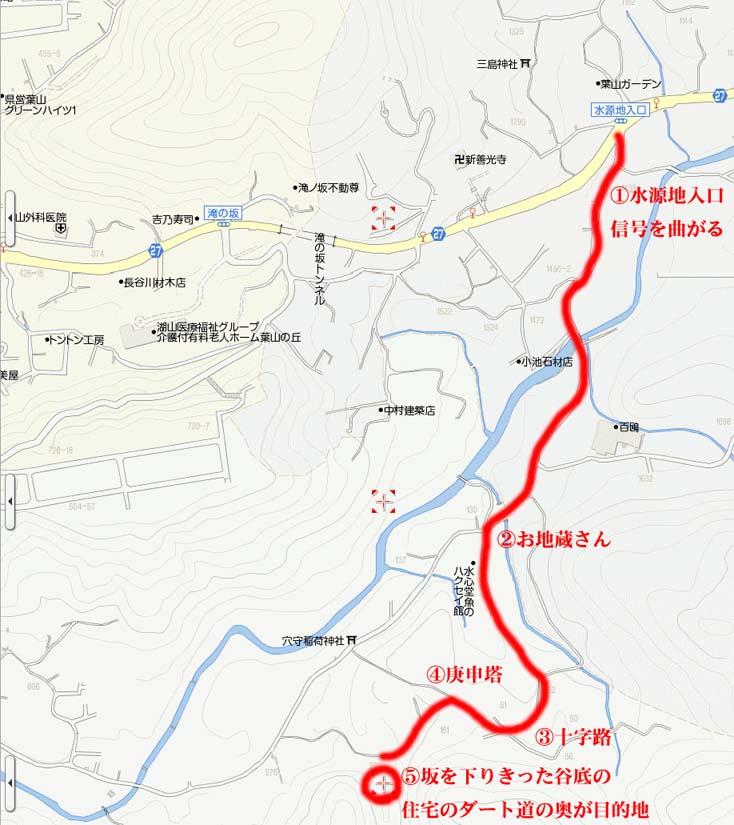 星山温泉地図
